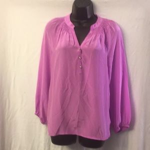 Lilly Pulitzer 100% Silk Blouse Size XS